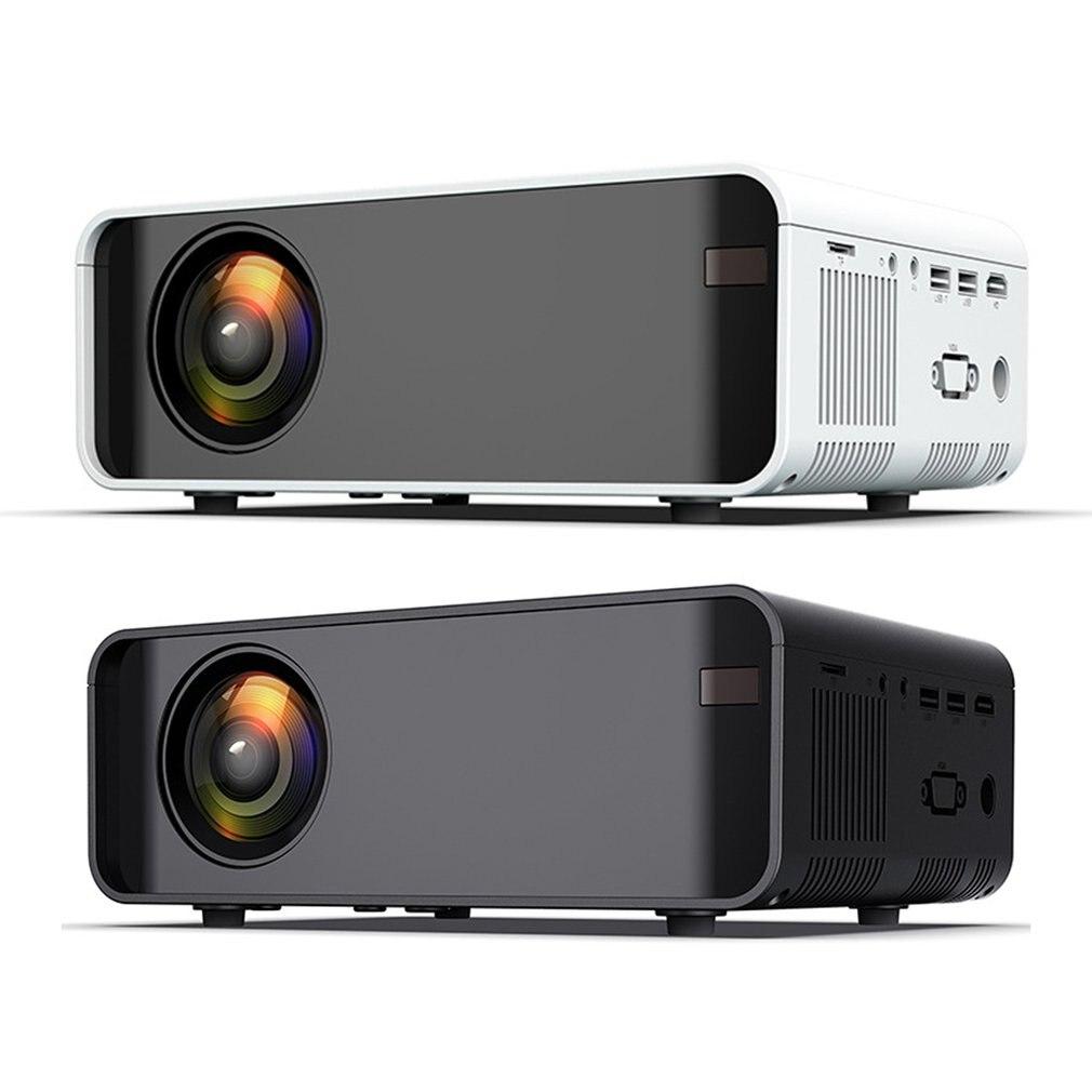 الأبيض المحمولة العارض عالية الوضوح 1080p الهاتف المحمول واي فاي اللاسلكية نفس شاشة عرض المسرح المنزلي عارض فيديو