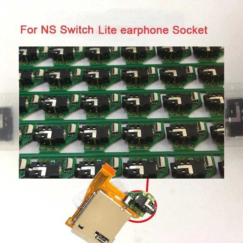 Soquete do Fone de Ouvido com Placa para Nintend Fone de Ouvido Porto com Boardearphone Switch Lite Console Conector Jack Substituição 100 Pçs