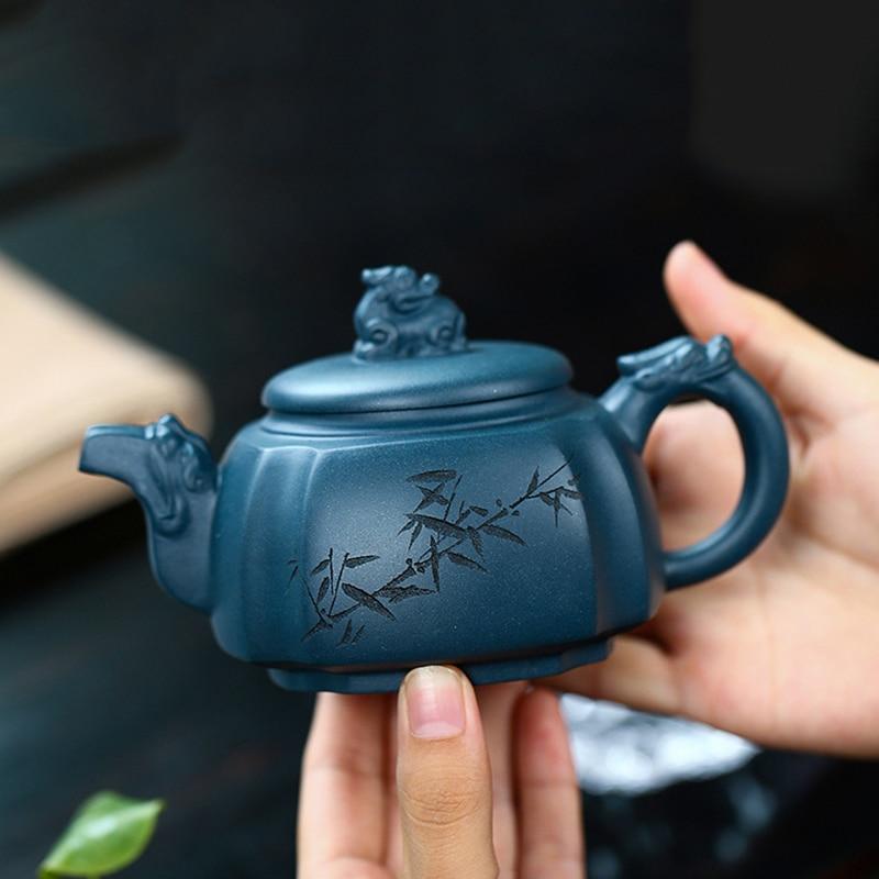 Yixing الشهيرة الأرجواني الطين التنين براد شاي اليدوية الكونغ فو غلاية الطين الأخضر سيفانغ تامرون الإبداعية توير