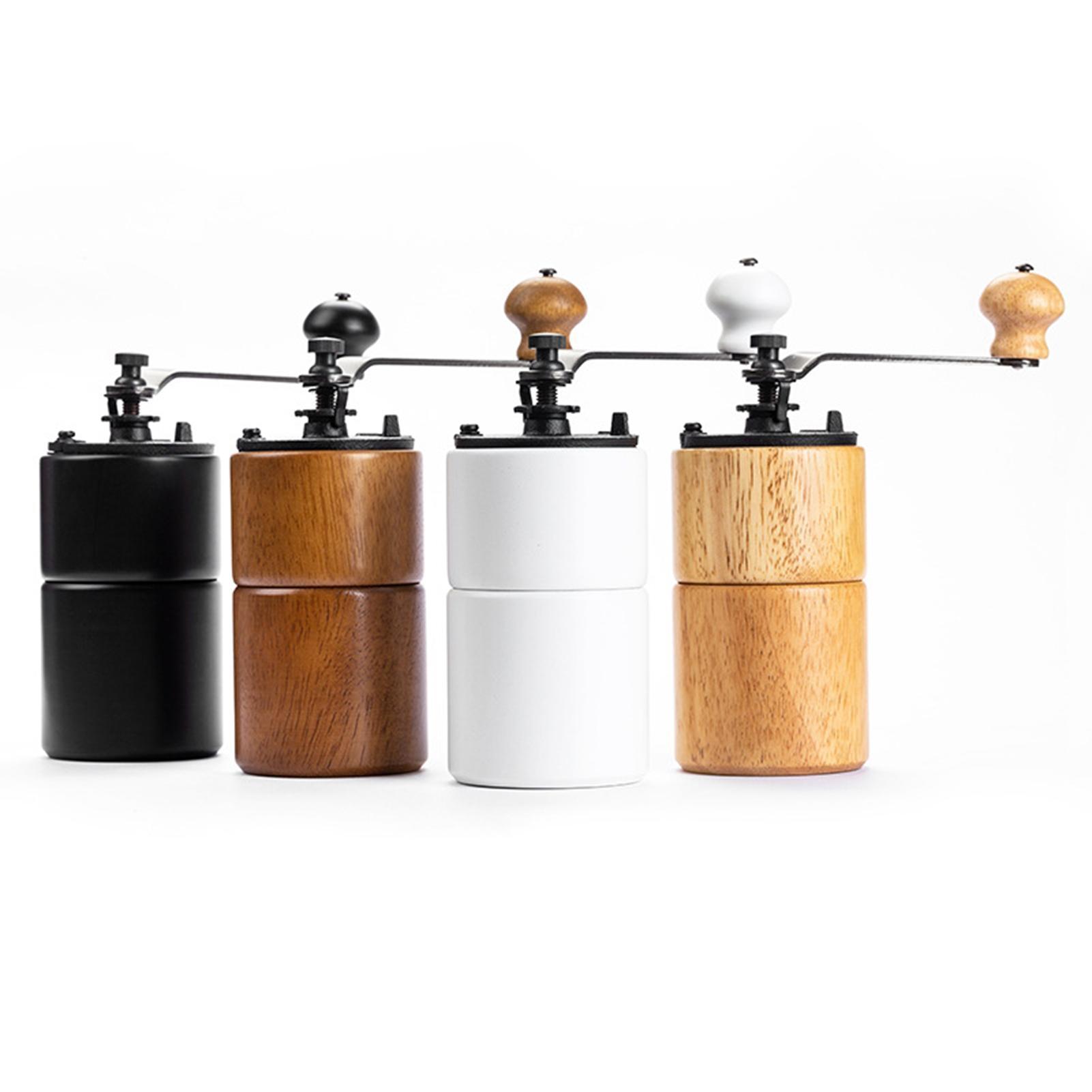قابل للتعديل طحن سمك دليل خشب متين طاحونة القهوة اليدوية للمنزل السفر المطبخ أداة المطاحن