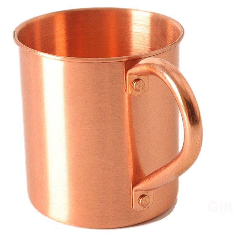 100% reines Kupfer Moscow Mule Becher Feste Glatte ohne Innen Liner für Cocktail Kaffee Bier Milch Wasser Cup Home Bar drink