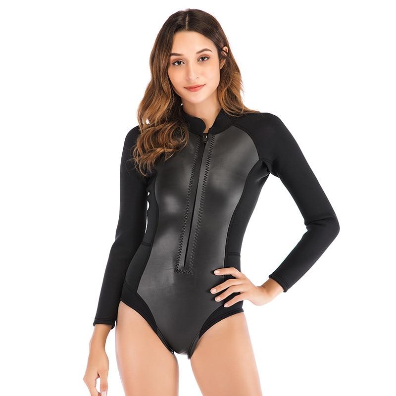 2019 Sbart 2MM manga larga de una sola pieza traje de buceo mujer impermeable madre traje de buceo traje de natación de invierno traje de buceo de baño