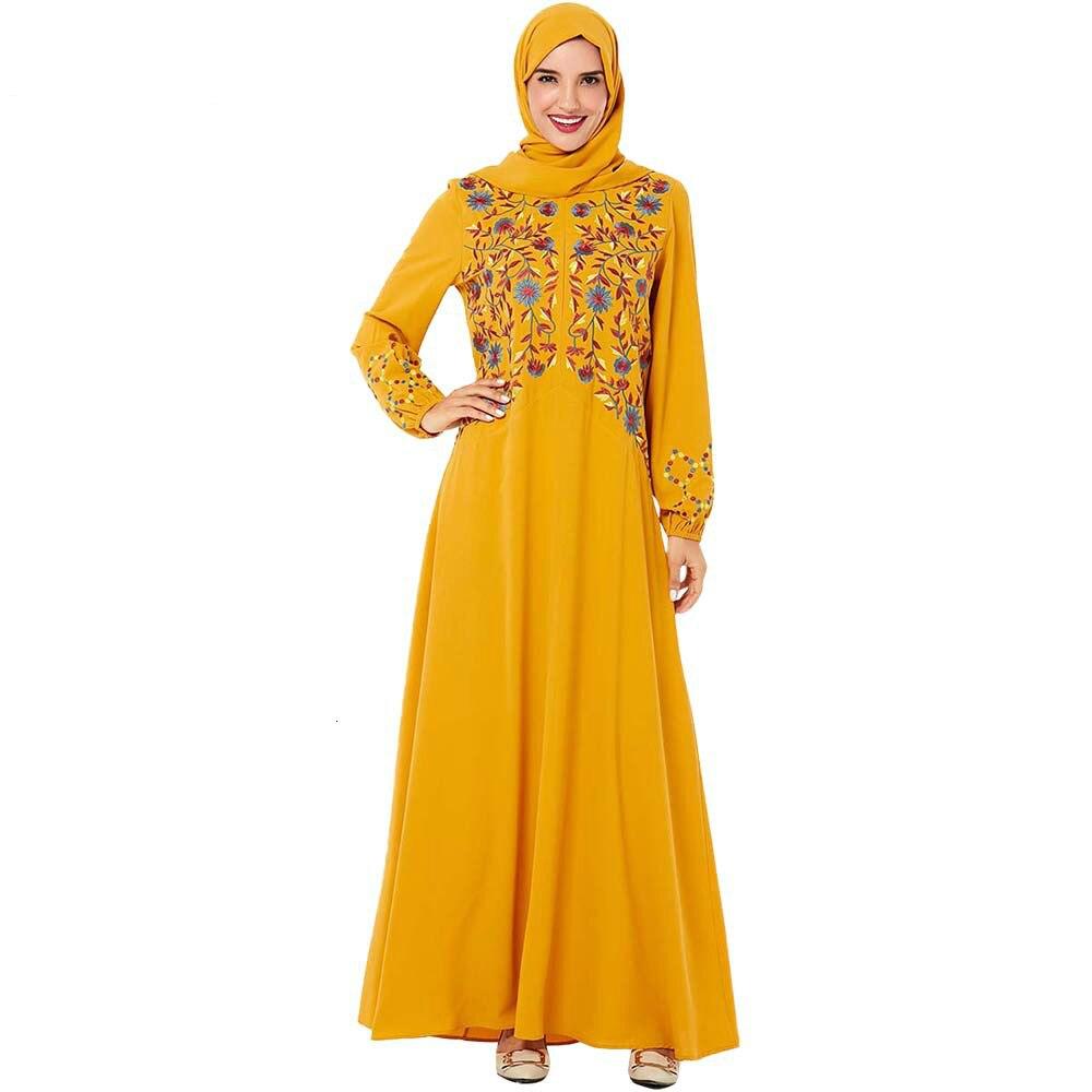 Abaya Falda larga India cremallera frontal islámica ropa bordada Casual Abaya Dubai musulmán vestido de gran tamaño abaya dubai