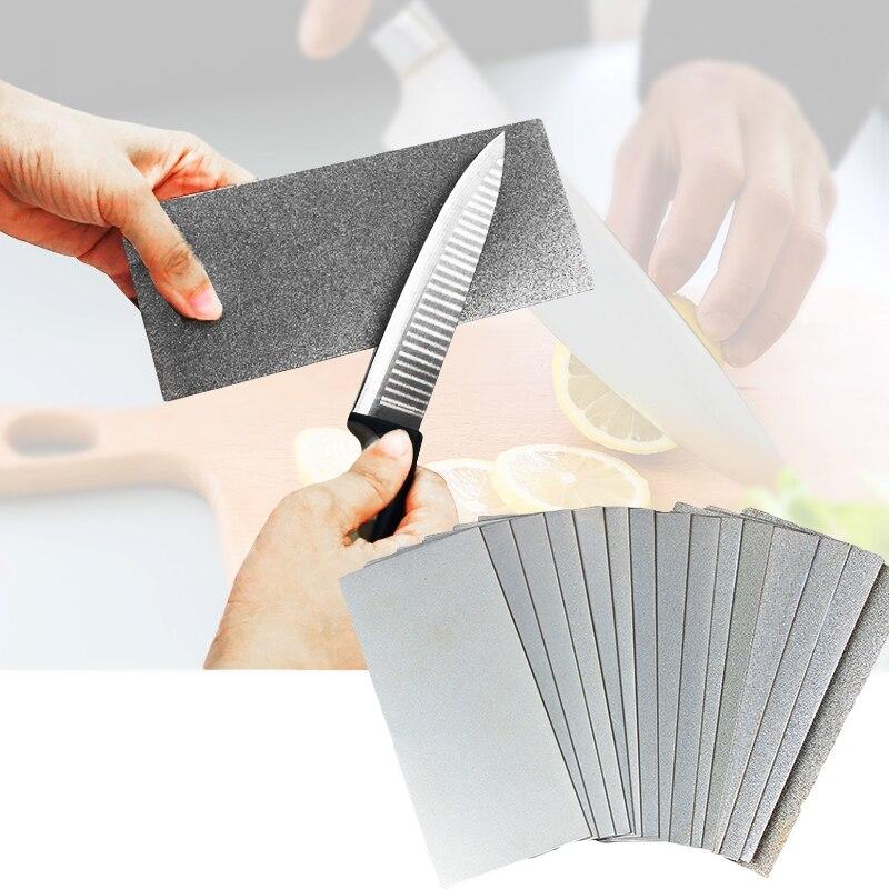 Nuevo diamante placa Sharpener150-3000 grano profesional fino diamante cuchillo piedra para afilar pulido piedra abrasiva
