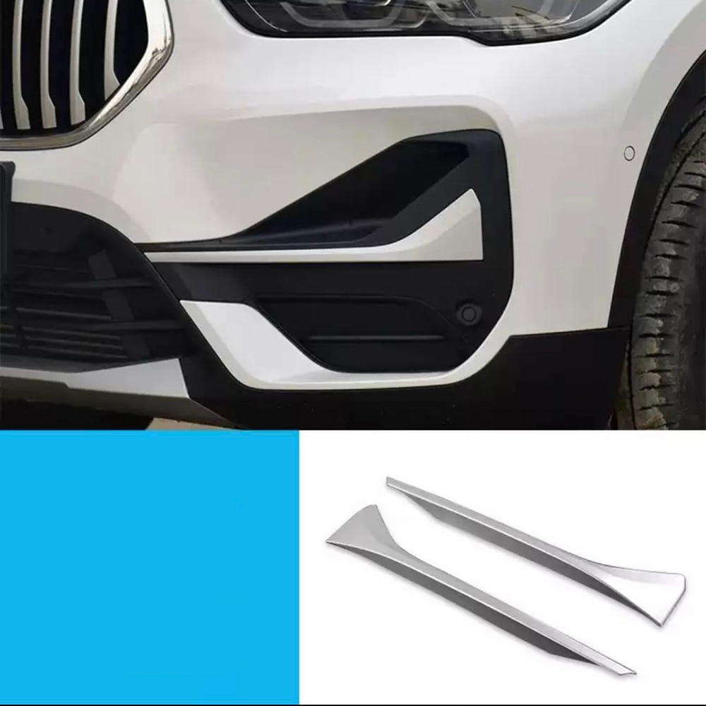 Exterior Refit Kit Fit For BMW X1 F48 2016 - 2019 2020 Front Fog Lights / Lamp Eyebrow Stripes Cover Trim Accessories