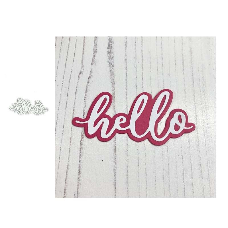 2021 новый hello слова буквы трафарет металлический высекальный ремесло высечки сделать прессформы декоративный шаблон для Скрапбукинг дизайн...