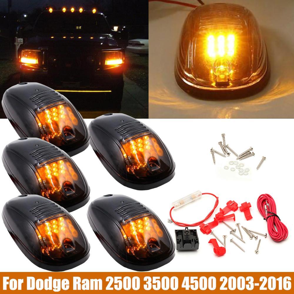 5 uds 9LED luces de techo de cabina de coche para camión SUV DC 12V negro ahumado lente marcador LED techo lámparas Doom luces