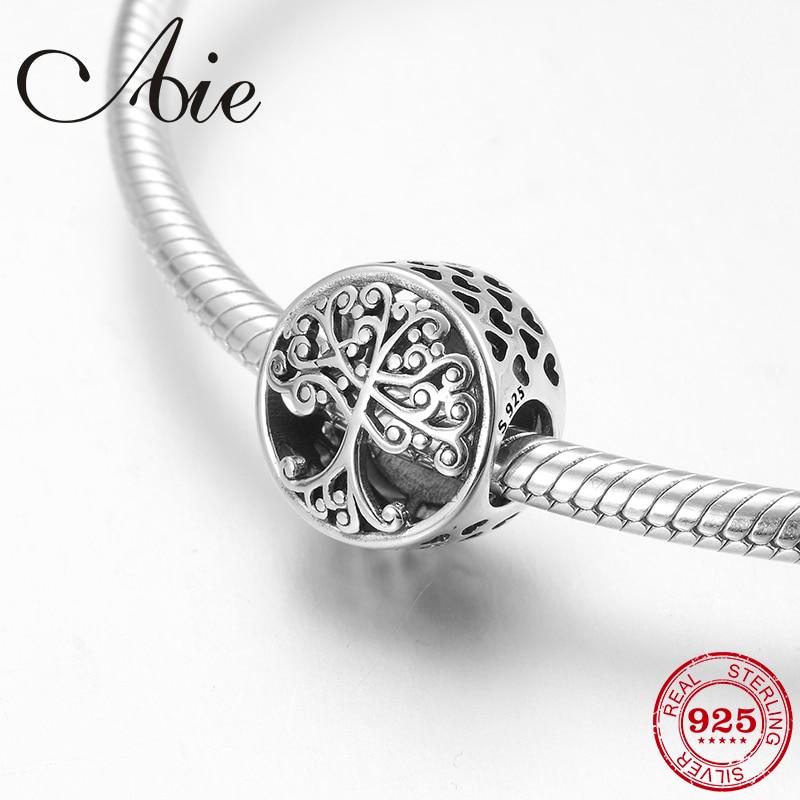 Mode 925 Sterling Silber DIY feine wie baum des lebens runde form Perlen Fit Original Pandora Charme Armband Schmuck machen