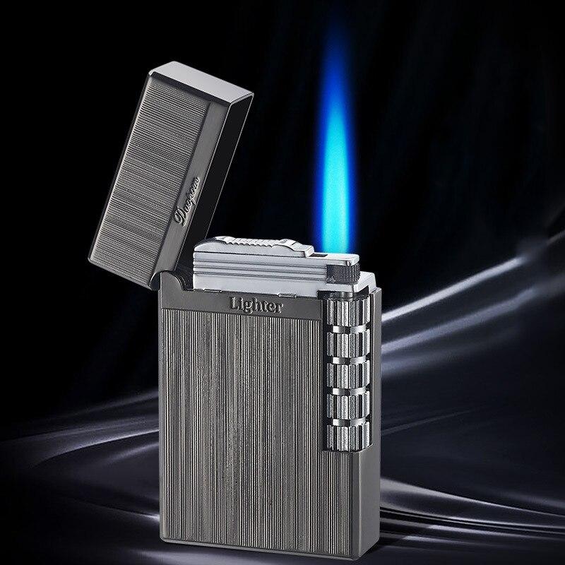 Grinding Wheel Flint Lighter Fixed Flame Metal Gas Lighter Cigarette Lighters Cigar Smoking Accessories Men's gifts