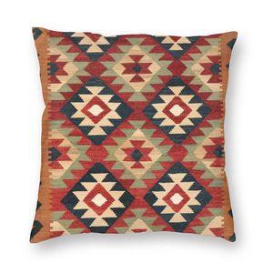 Turkish Kilim Cushion Cover Bohemian Geometric Diamond Tribal Ethnic Art Throw Pillow Case for Living Room Pillowcase Decoration