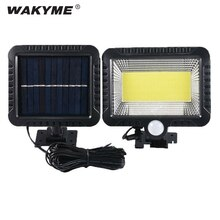 WAKYME 100 LED 태양 램프 야외 PIR 모션 센서 벽 빛 방수 정원 램프 태양 전원 된 통로 거리 보안 램프