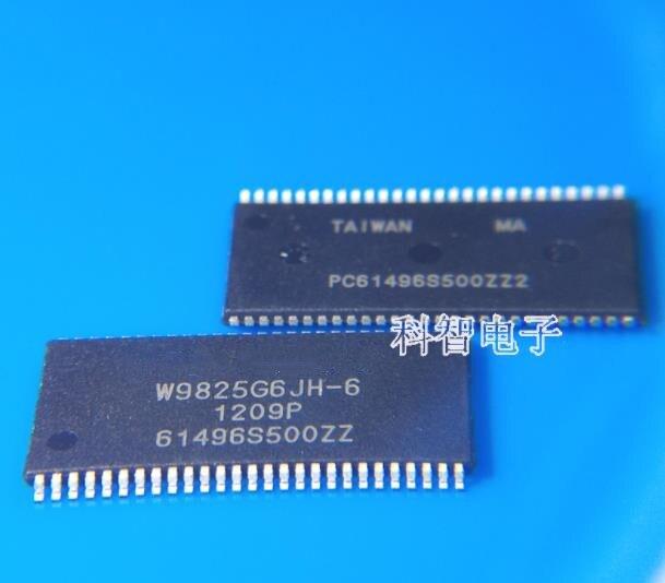 New original 10 pçs/lote W9825G6JH-6 W9825G6JH TSOP-54