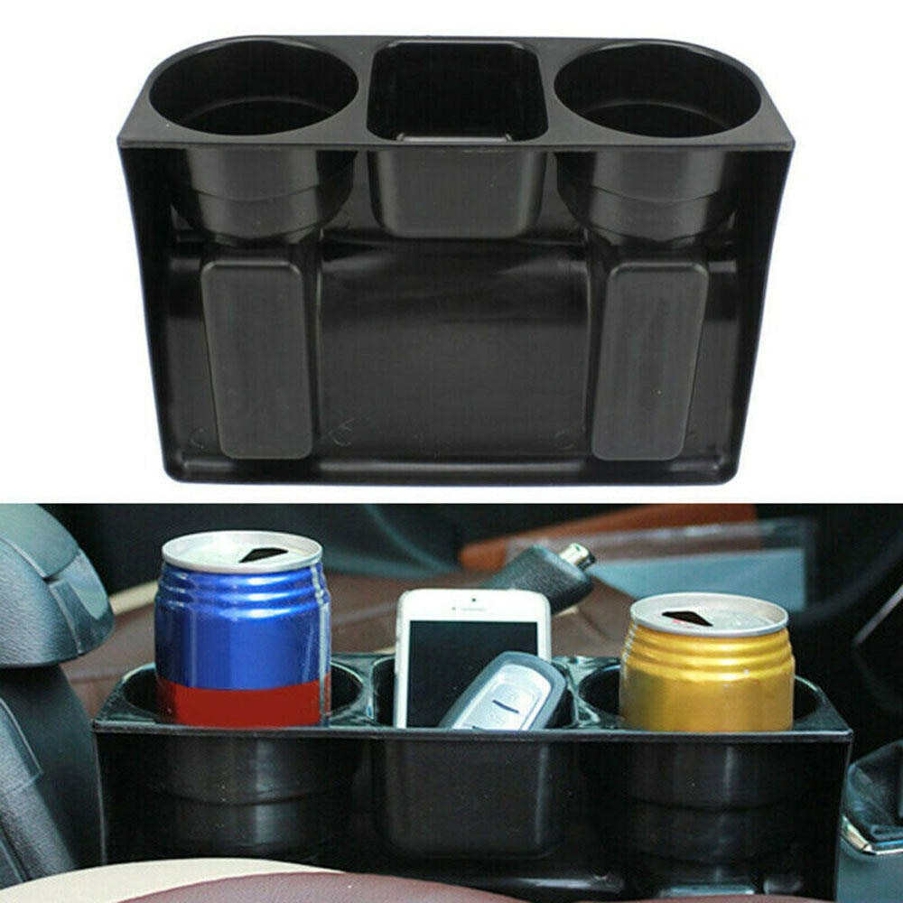 2019 Car Seat Seam Wedge Drink 2 Cup Holder Food Bottle Mount Stand Storage Organizer Car Storage Solution