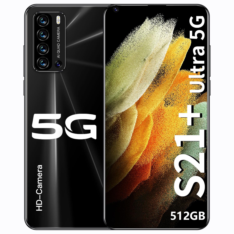 Galaxy S21 + Ultra 7.3 Inch Smartphone 4G/5G Unlock 24MP + 48MP 12Gb + 512gb 5600Mah Mobiele Telefoons Android Global Versie Smart Phone