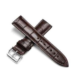 Hong Kong Kun Kee Leather Watch Band Watch Band Men's Strap Ladies Genuine Leather Strap Accessories Strap Pin Buckle 7-15