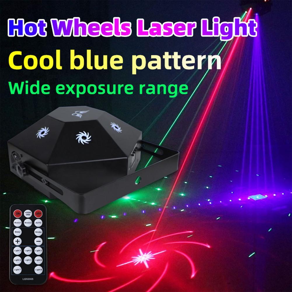 مصباح ديسكو RGB 8-eye مع جهاز تحكم عن بعد DMX ، ضوء ستروب Led للمسرح ، رأس السنة الجديدة ، مصباح ليزر لعيد الميلاد والحفلات والديكور المنزلي
