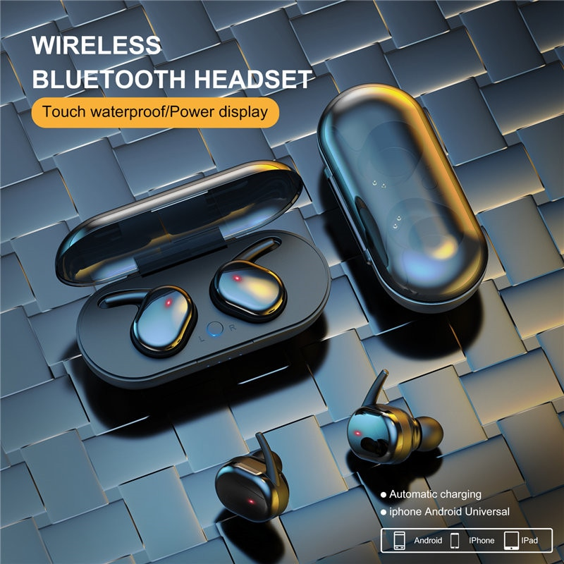 Y30 TWS Earphones Wireless Bluetooth 5.0 Headphones 4D Stereo Noise Cancelling Earbuds  gaming heads
