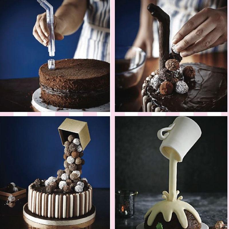 1SET Cake Support Structure Frame Anti Gravity Cake Pouring Kit DIY Cake Baking Tools Suspended Cake Rack Home Decor QA 133
