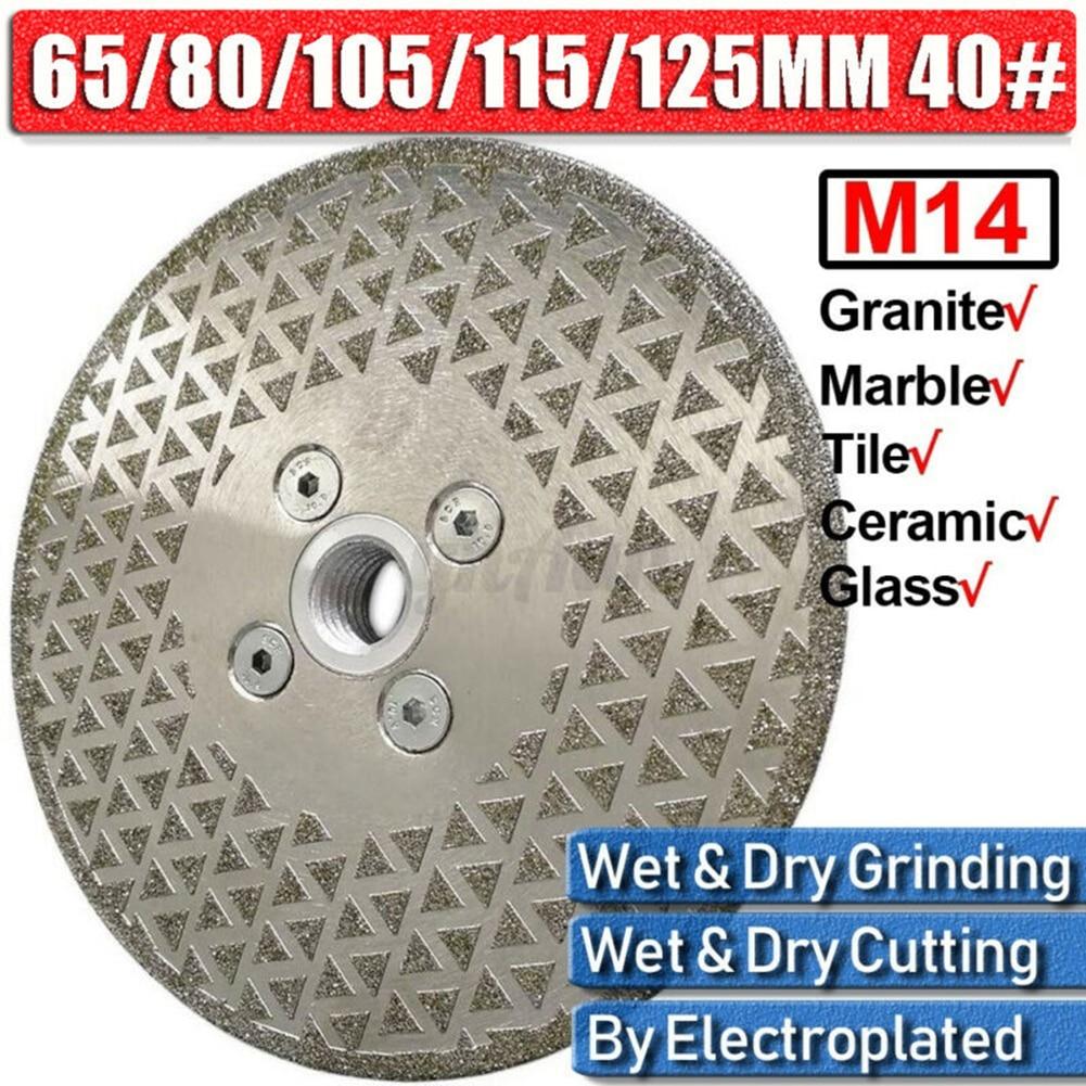 65-125mm Diamond Cutting Disc Grinding Blade Wheel M14 Flange Granite Marble Saw Diamond Grinding Wheel Disc Bowl Shape Grinding