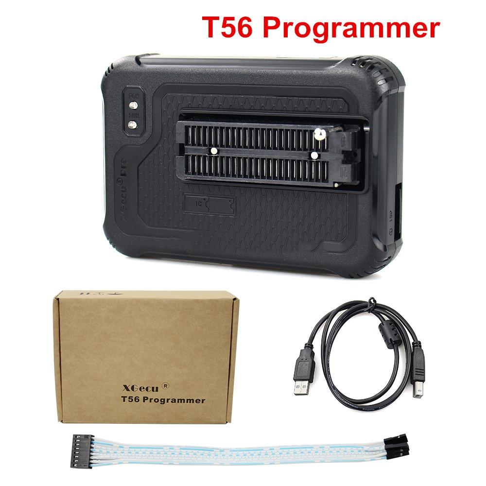 الأصلي XGecu T56 العالمي مبرمج قوي دعم ولا فلاش/NAND فلاش/EMMC + 15/17 محولات اختبار كليب الذكية آلة حاسبة