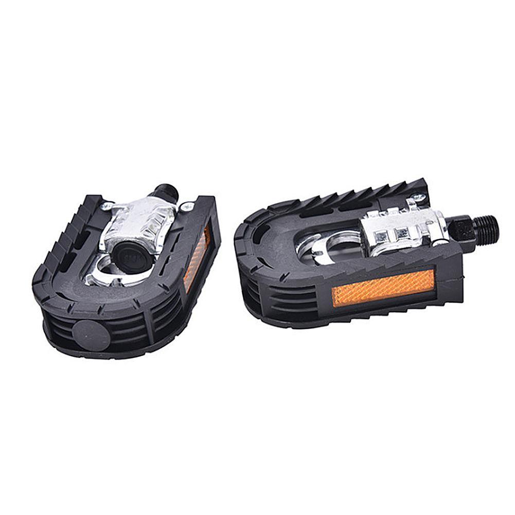 2 pçs pedal da bicicleta de montanha selado rolamento liga alumínio dobrável pedal placa acessórios da bicicleta pedal plana