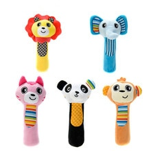 XCQGH Newborn Baby Toys Animal Baby Plush Rattle Mobile Bell Toy Infant Toddler Early Educational To