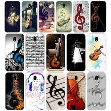 374 Musical Notes Violin Classical Music  Soft Silicone Tpu Cover phone Case for Samsung j3 j5 j7 2016 2017 j330 j2 j6 Plus 2018