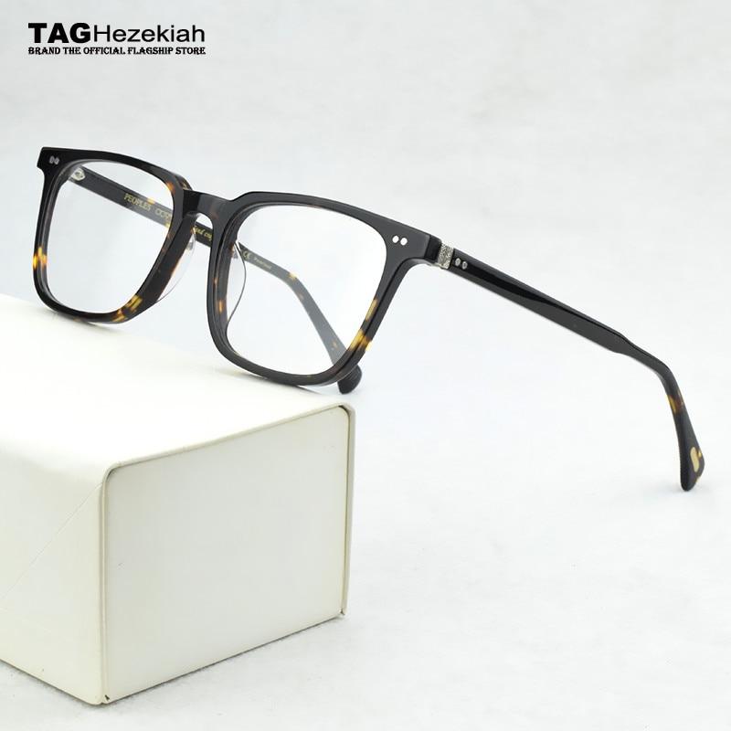 2020 Brand Square Glasses Frame Men Prescription Myopia Eyeglasses Frame women Acetate Optical Retro Transparent Eyewear Frame