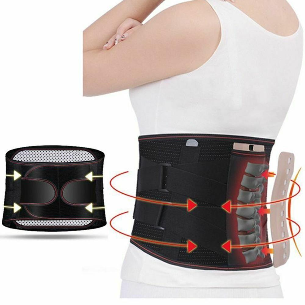 Adjustable Tourmaline Self-heating Magnetic Therapy Waist Belt Lumbar Support Back Waist Support Bra