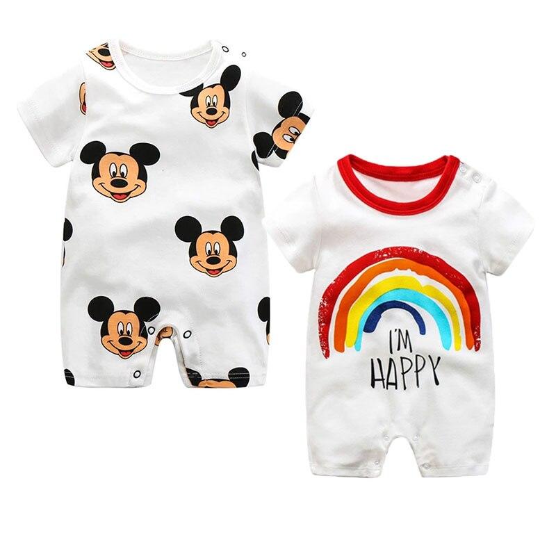 Mono de Mickey para bebés recién nacidos, ropa para bebés, mono infantil, mono de dibujos animados para bebés, peleles para niños
