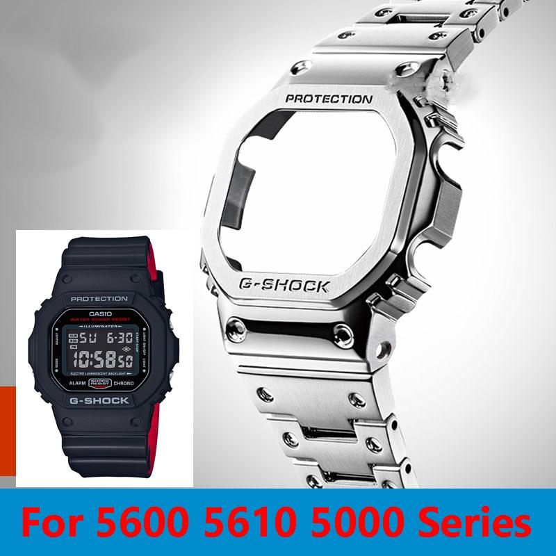 Remodel Band +Case GW-B5600 DW5600 5610 for Casio G-shock Replacment Band Strap Watch Band Bezel 5600 Metal GWM5610 GW5000
