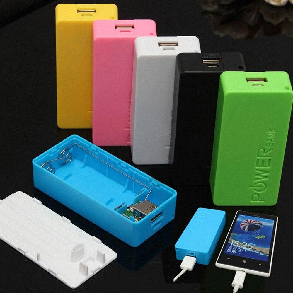 Cargador de batería de 5600mAh, 2x18650 banco de energía USB, caja de...