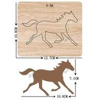 new horse wooden dies cutting dies scrapbooking v 58