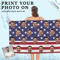 custom face us flag bath kids pool towel adult personalized beach surf camping hiking ultralight breathable portable quick dry