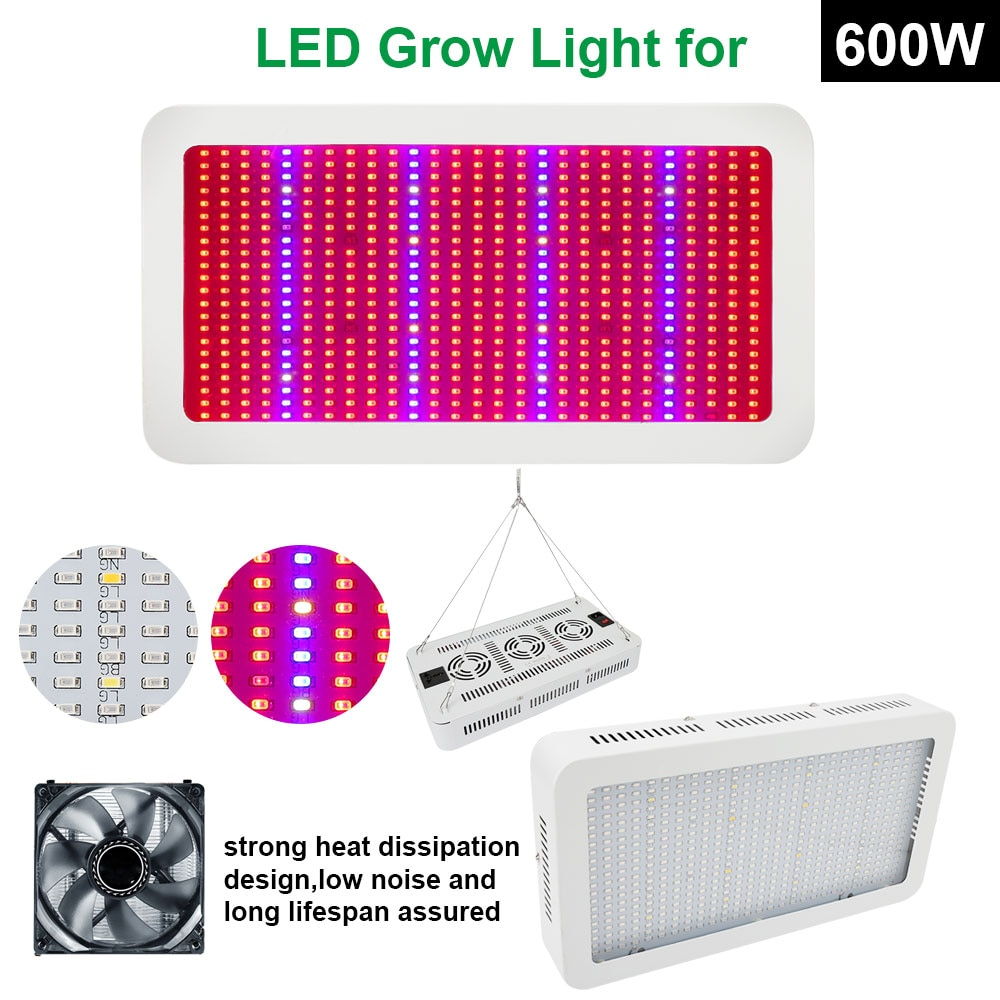 Full Spectrum 600W LED Grow Light Red/Blue/White/UV/IR AC85~265V SMD5730 Led Plant Lamp Best For Growing and Flowering Wholesale enlarge