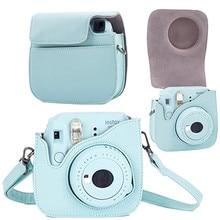 Étui à bandoulière en cuir pour appareil Photo Polaroid pour Fuji Fujifilm Instax Mini8 8 + 9