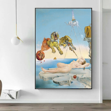 Moderno Salvador Dalí tigre, elefante, desnudo mujer lienzo de pintura surrealismo cuadros artísticos de pared abstracta impresión para sala de estar