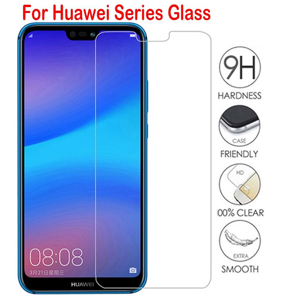 Vidrio templado para Huawei P20 lite P40 P30 P Smart 2019 Mate 20 Protector de pantalla de vidrio en honor 20 8X 10 lite 10i 8A 9X Glass