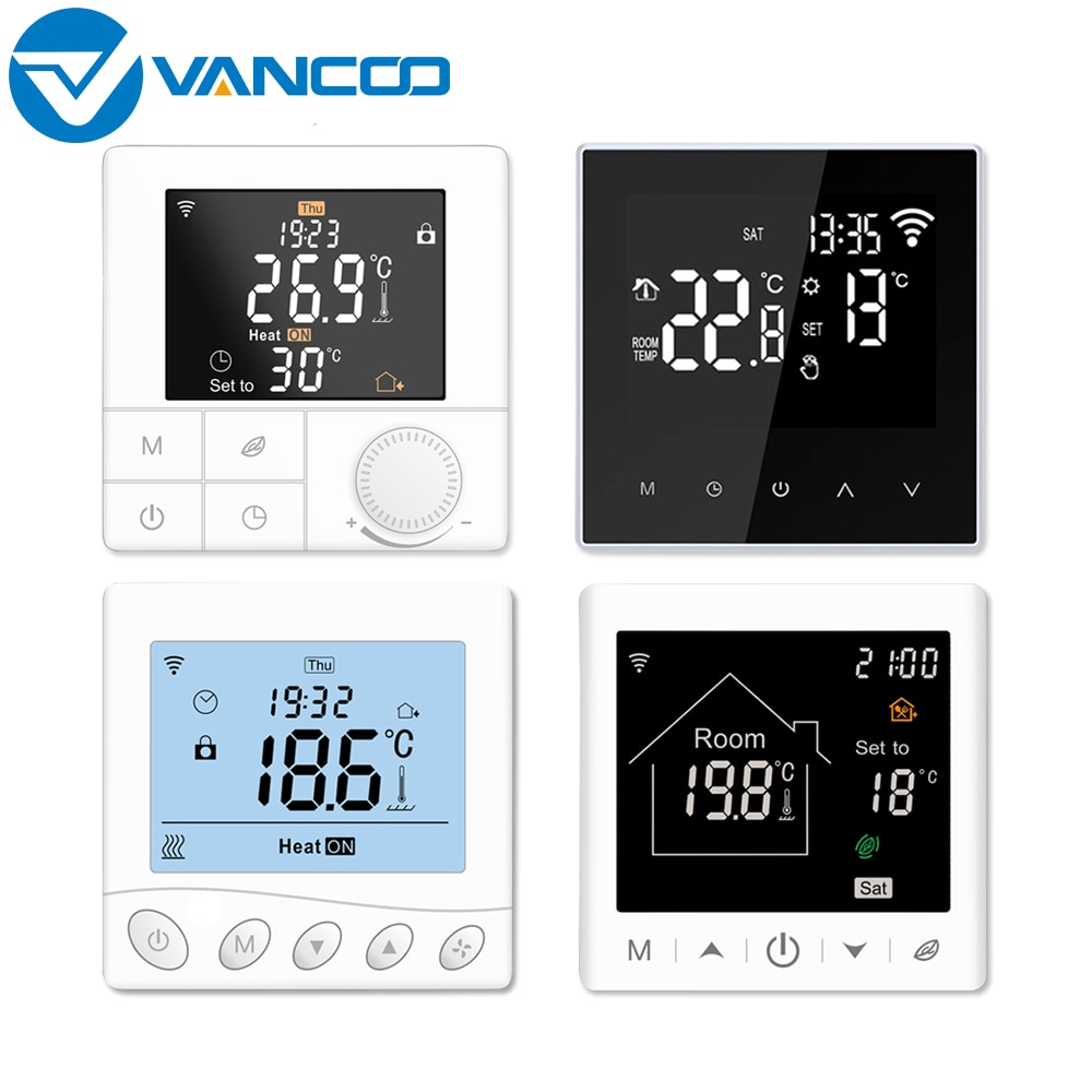 Vancoo Tuya Wifi Smart Home Thermostat 220V  Temperature Controller Electric Heating thermostat Digital Thermoregulator wifi temperature regulator heating thermostat digital lcd touch screen temperature controller thermoregulator with alexa home
