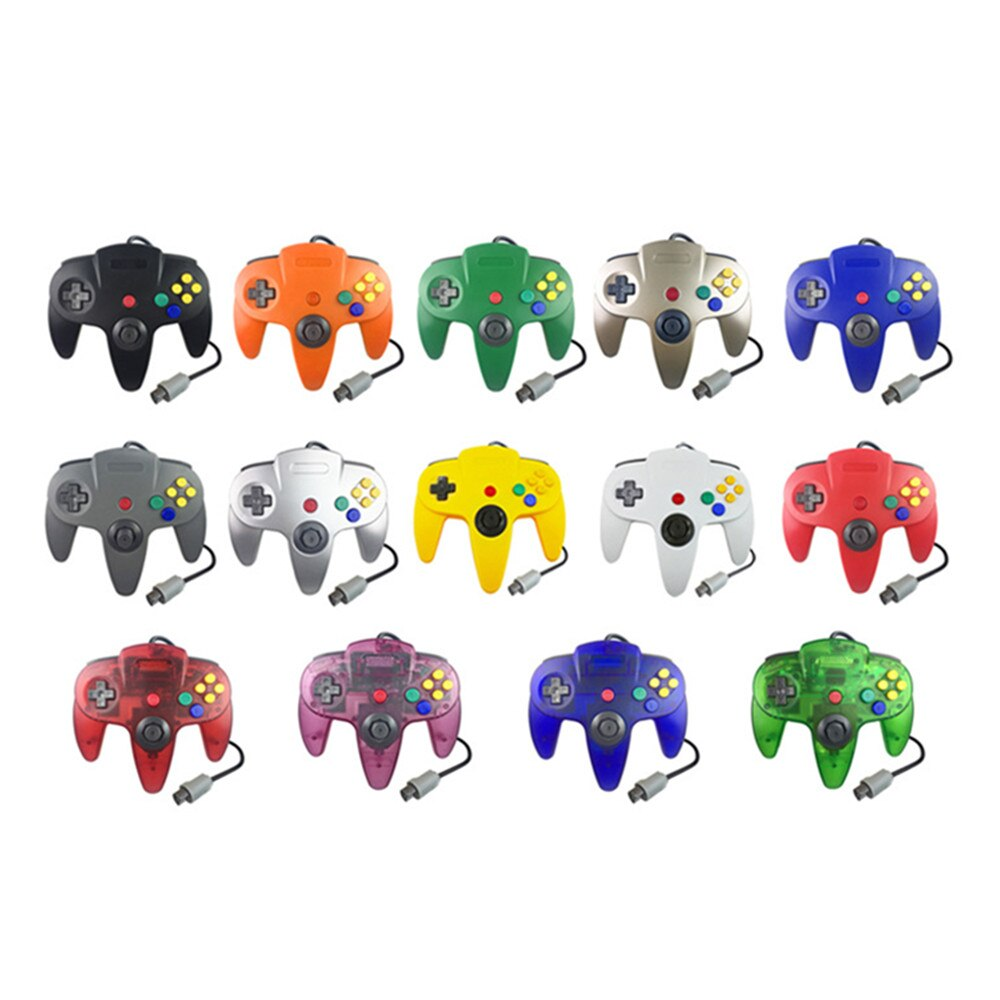 100PCS Gamepad Wired Controller Joypad For Gamecube Joystick Game Accessories For Nintend N64 For PC Computer Controller