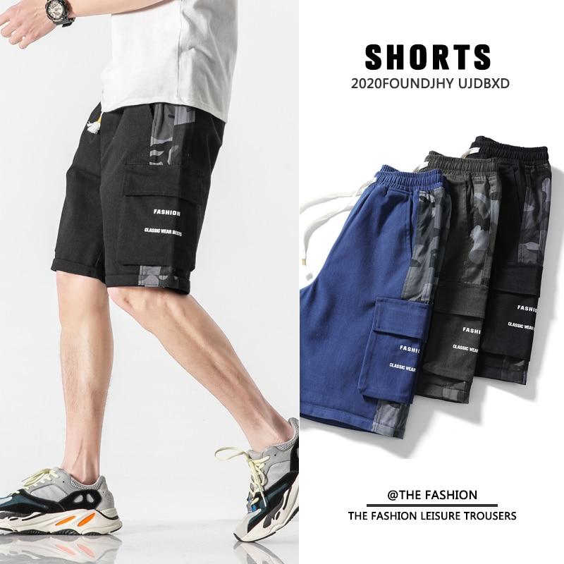 Plus Size Men Cargo Jeans Shorts 2021 Summer Fashion Casual Streetwear Cotton Denim Baggy Pants Hara
