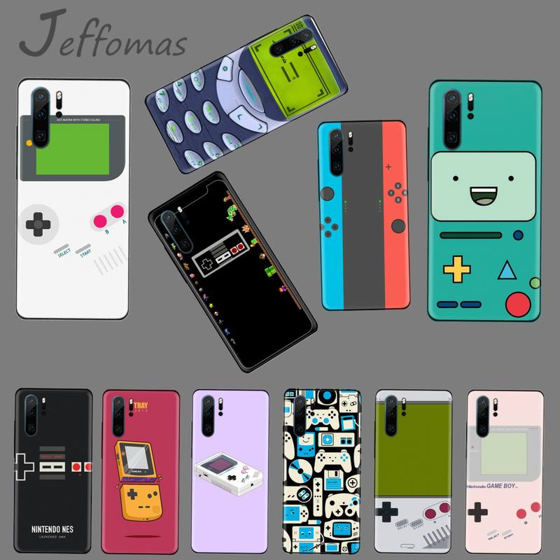 gameboy retro phone Black Soft Shell Phone Case Capa Funda For Huawei P9 P10 P20 P30 Lite 2016 2017 2019 plus pro P smart