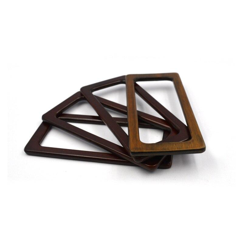 Прямоугольная деревянная рамка, деревянная ручка из массива дерева ручной работы, «сделай сам», кошелек, сумка, ручки, Портативная сумка, ре...