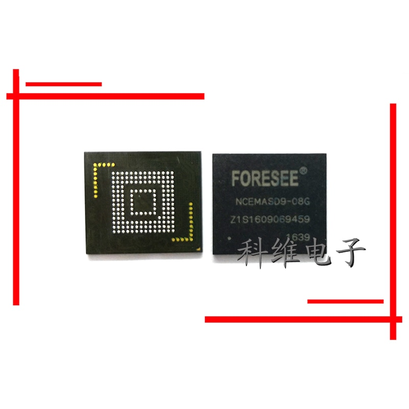 NCEMASD9-08G NCEMASDB-08G 153 Ball EMMC Speicher Handy IC Chip