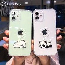 Creative หมีแพนด้าสัตว์สำหรับ iPhone 11 12 13 Pro Max Clear เลนส์สำหรับ iPhone X XS XR 7 8 Plus