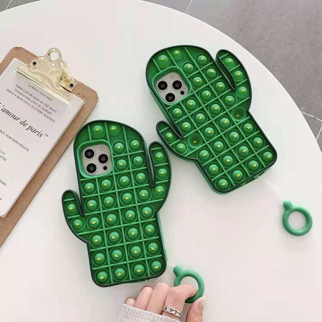 Custodia-teléfono inteligente de silicona con diseño de Cactus di, smartphone de moda,...
