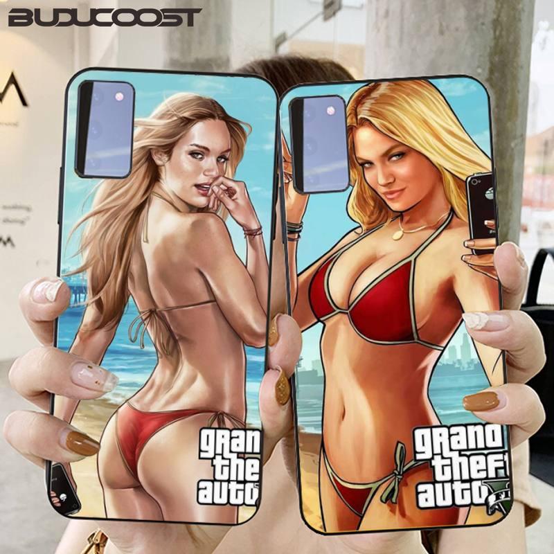 CUCI rockstar gta 5 Grand Theft Phone Case for Samsung S20 plus Ultra S6 S7 edge S8 S9 plus S10 5G lite 2020