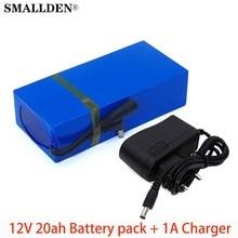Universel 12 V/11.1 V 20000mAh 18650 Li-ion batterie Rechargeable pack 12.6v caméra cctv + 1A chargeur