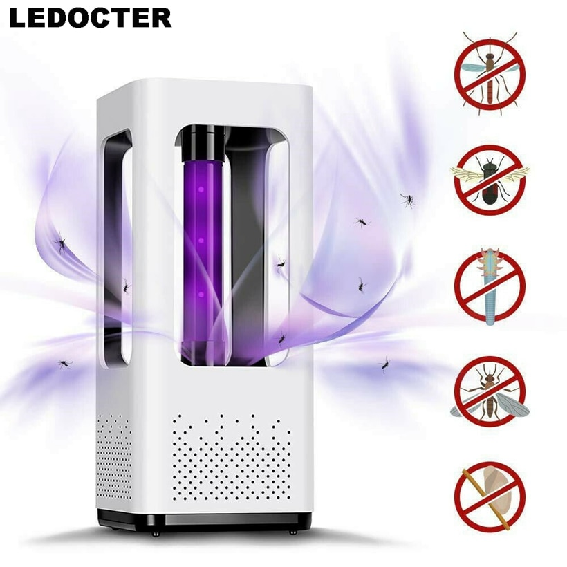 Lámpara LED de ahorro de energía segura para matar mosquitos, trampa para insectos, trampa para insectos, trampa para plagas, luz LED de Control UV no tóxica