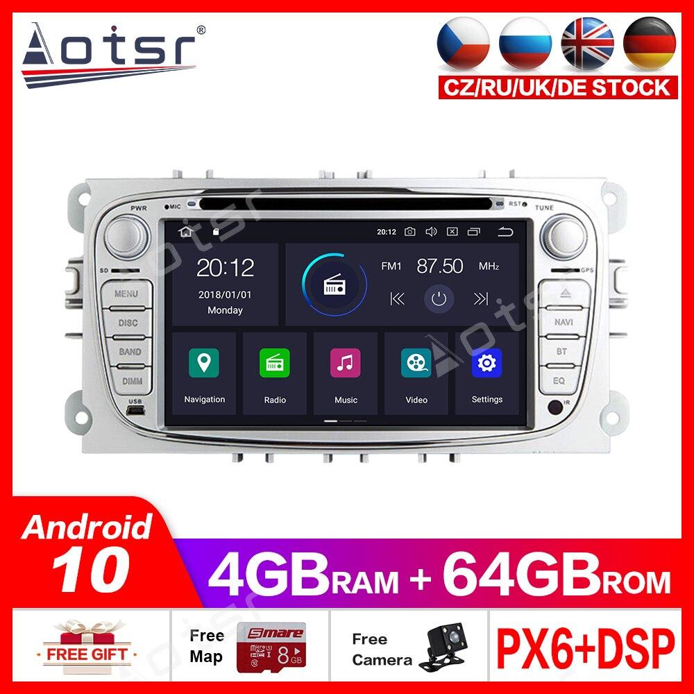 PARA FORD Focus/Mondeo/S-MAX/C-MAX/Galaxy Android10.0 reproductor de DVD para coche GPS multimedia Auto Radio navegador RECEPTOR ESTÉREO IPS
